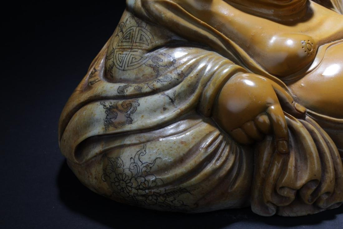 Chinese Soapstone Buddha Statue - 4