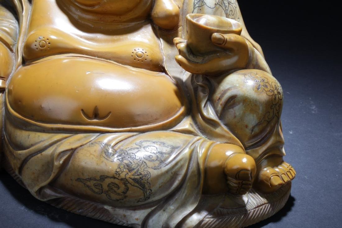 Chinese Soapstone Buddha Statue - 5