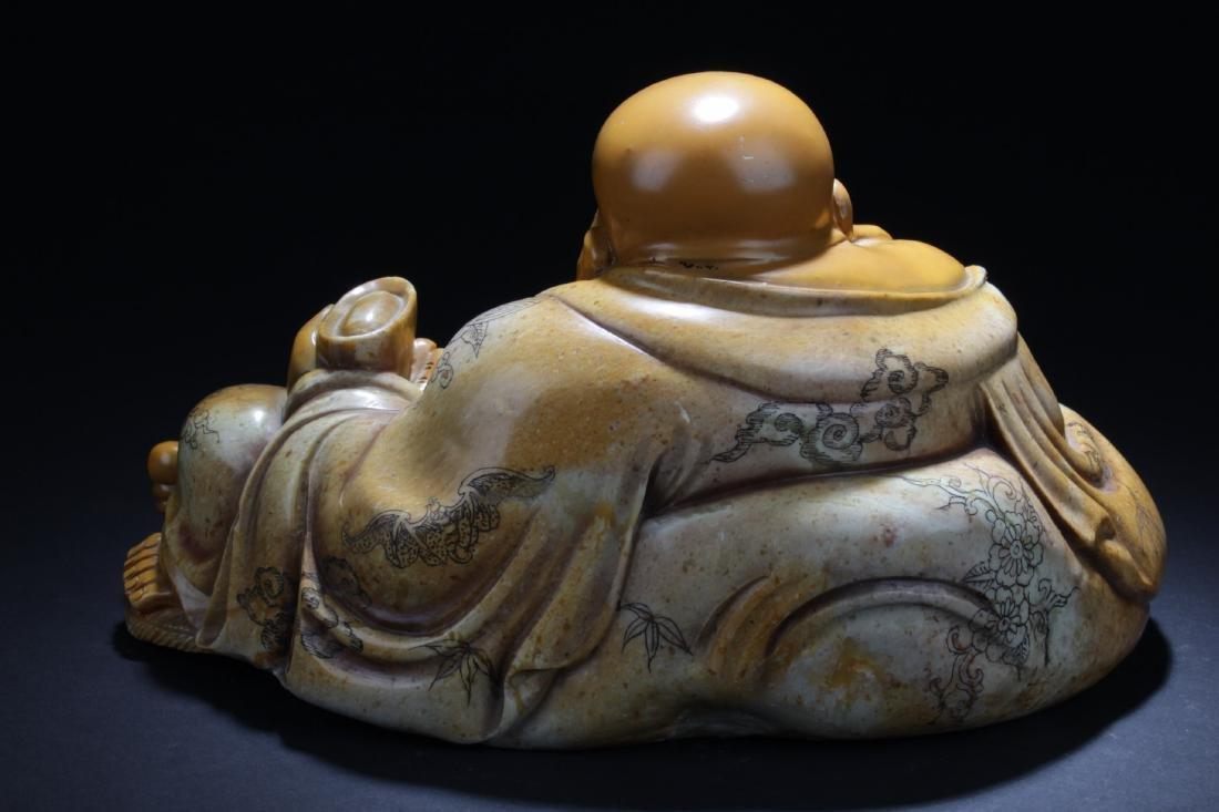 Chinese Soapstone Buddha Statue - 6