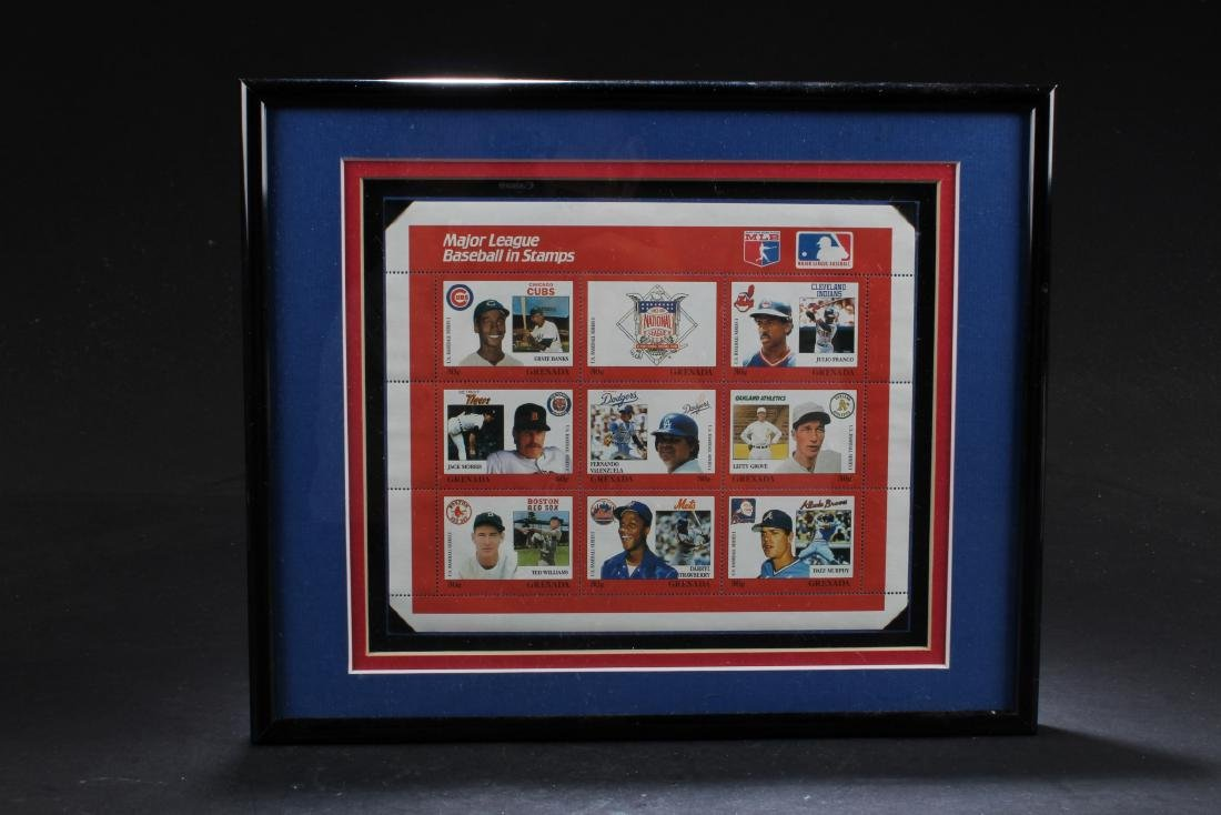 A Framed Stamp Set