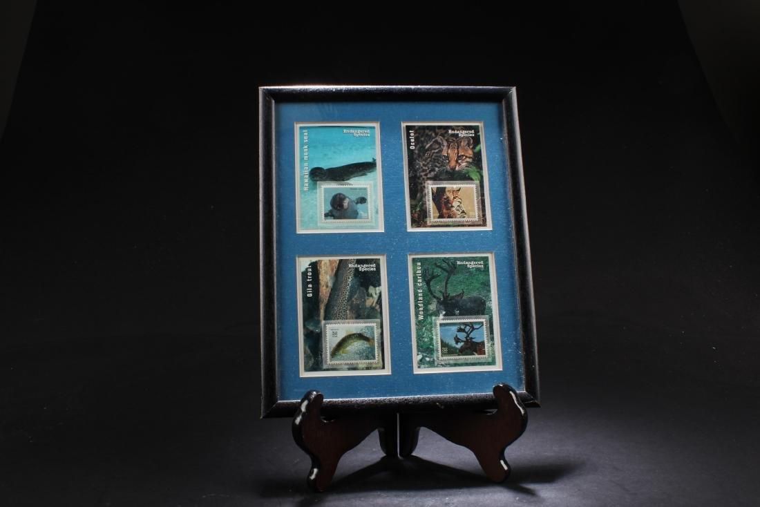 A Framed Stamp Set