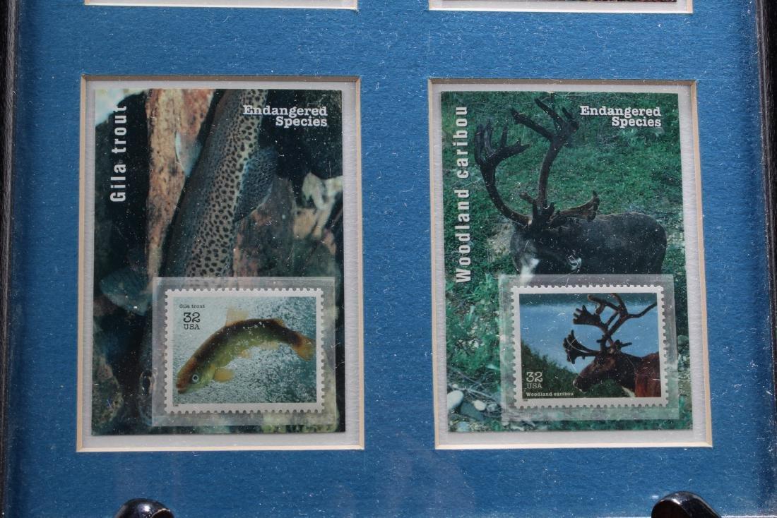 A Framed Stamp Set - 3