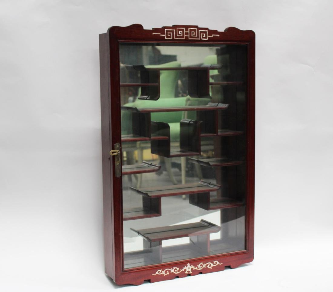 Chinese Rosewood Display Cabinet