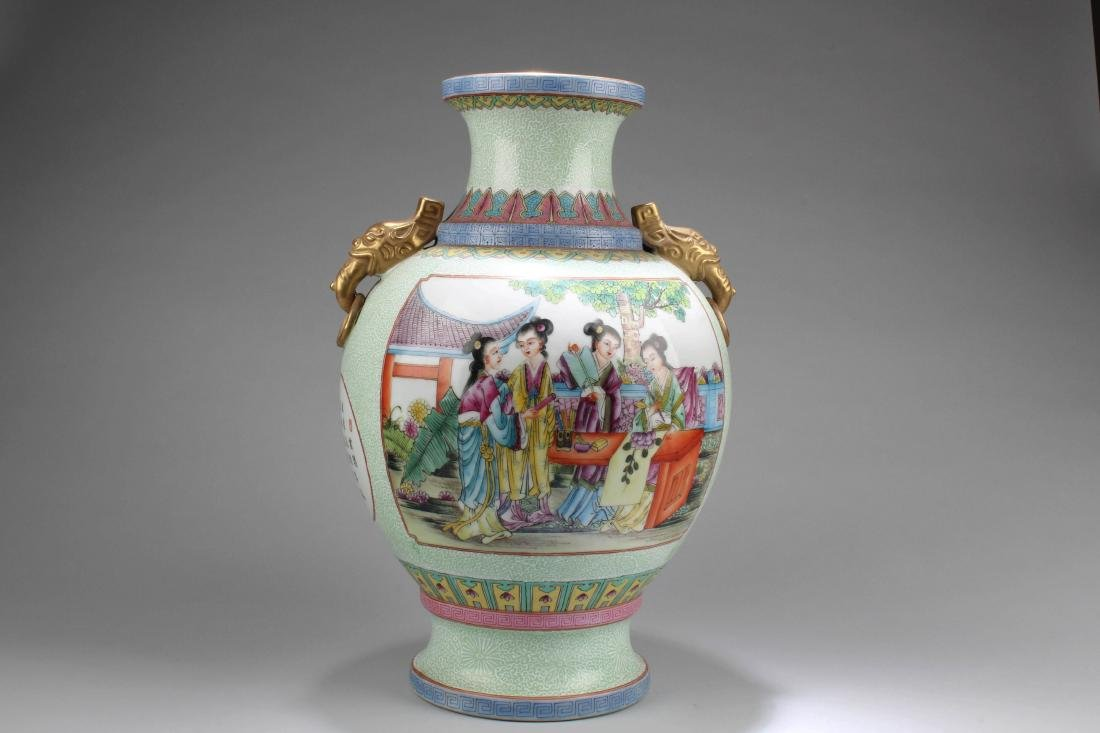 Chinese Porcelain Vase with Twin Handles