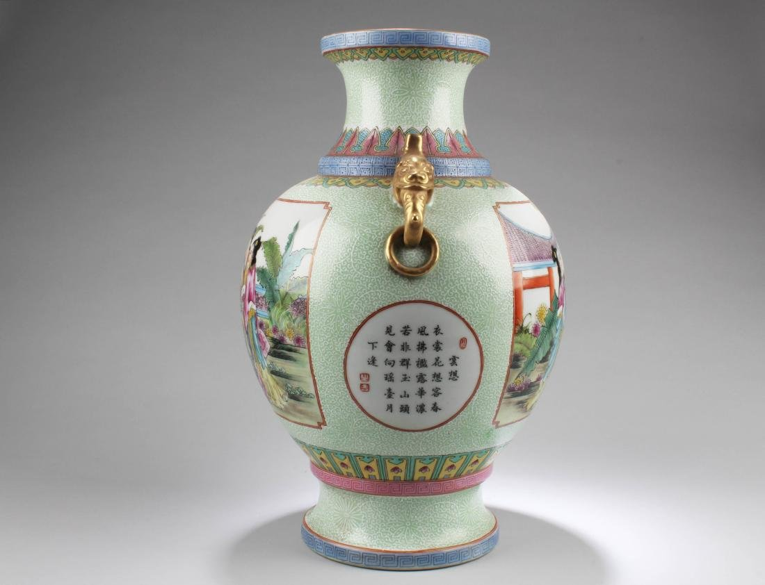 Chinese Porcelain Vase with Twin Handles - 4