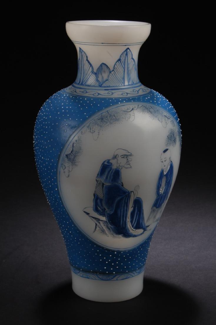 A Chinese Peking Glass Vase