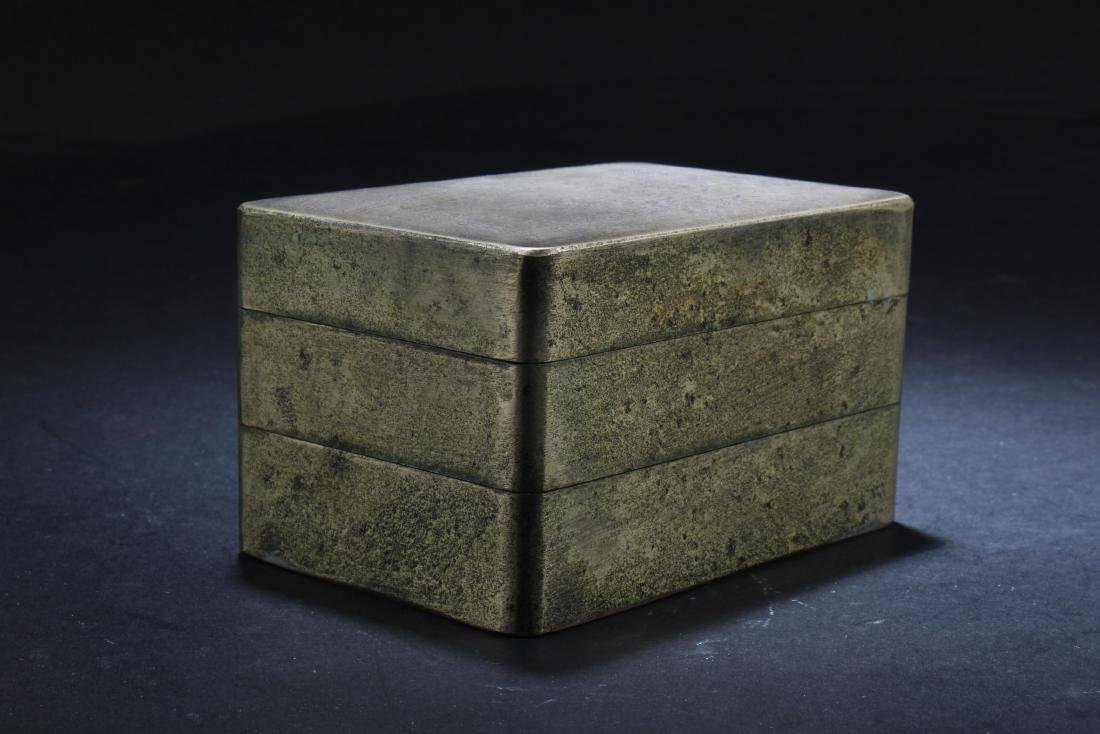 Chinese Bronze Double Tier Ink Box - 6