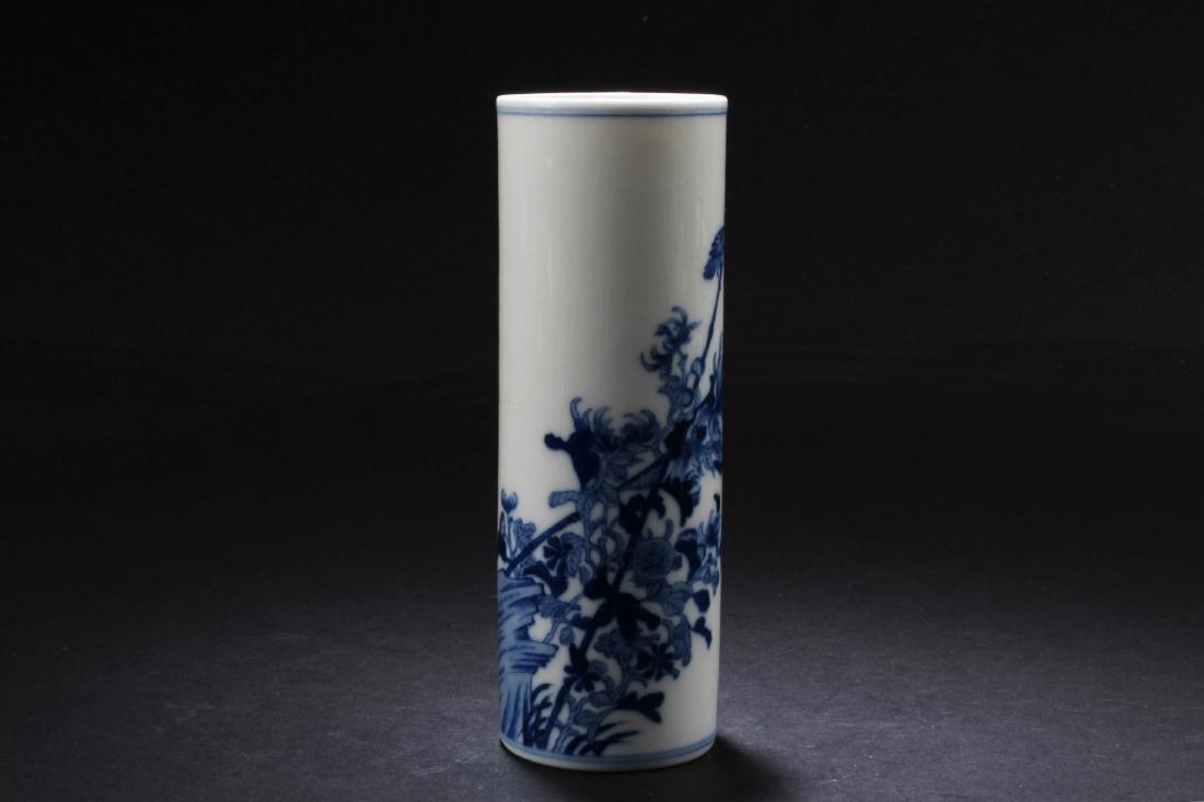 Chinese Blue & White porcelain Brushpot