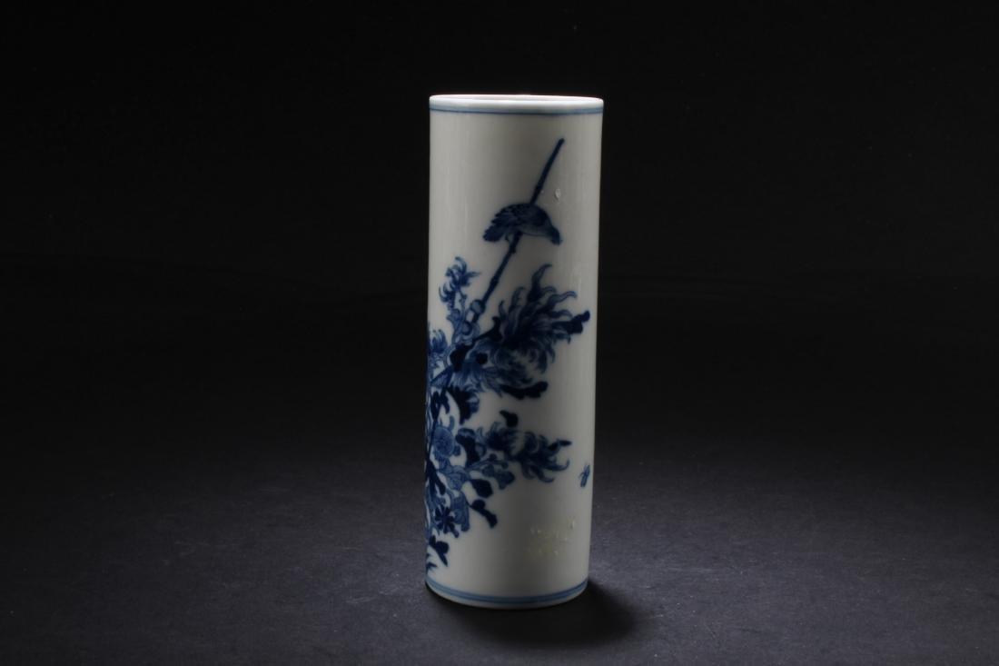 Chinese Blue & White porcelain Brushpot - 2