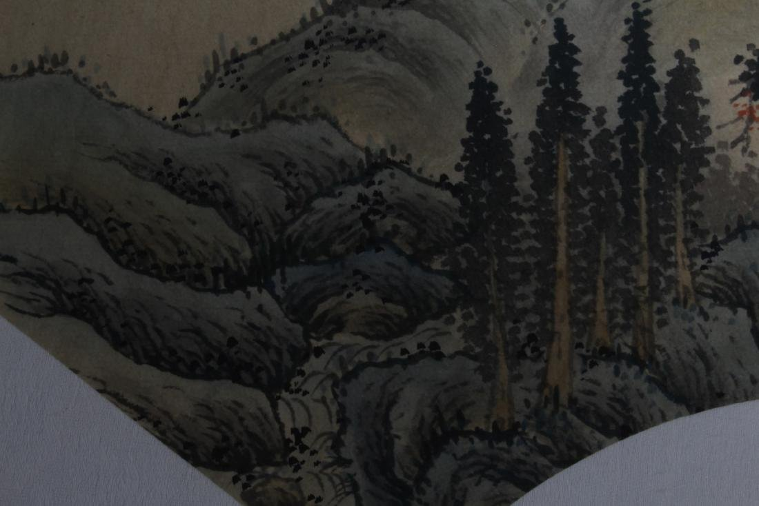 Chinese Fan Shaped Painting - 5