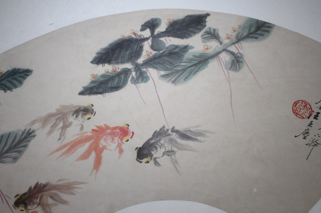 Chinese Fan Shaped Painting - 3