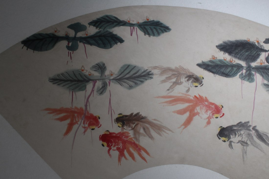 Chinese Fan Shaped Painting - 4