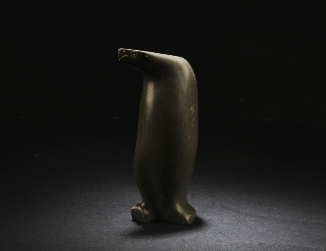 A Penguin shaped SongHua Stone Ornament
