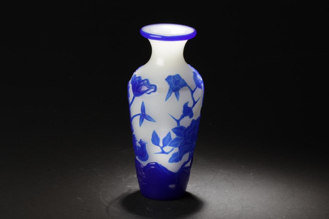 Chinese Peking Glass Vase - 3