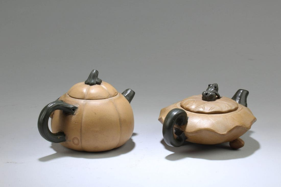 A Group of Two Chinese Zisha Teapot - 2