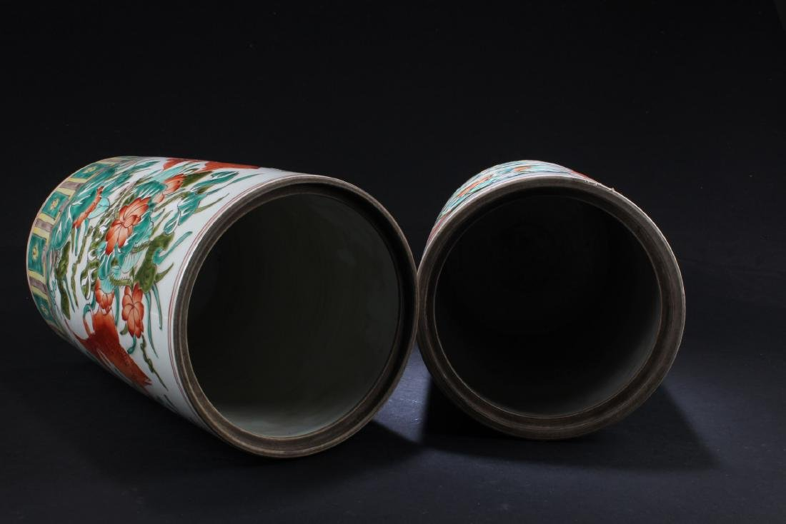 A Pair of Chinese Porcelain Vase with Jar cover - 3