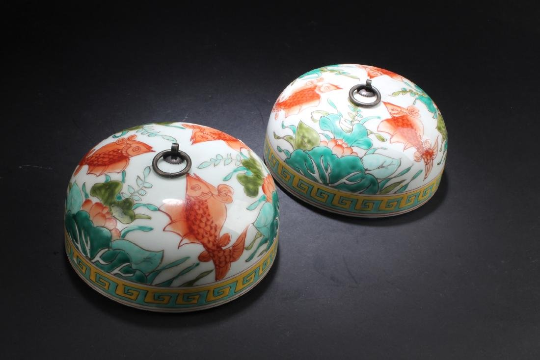 A Pair of Chinese Porcelain Vase with Jar cover - 4