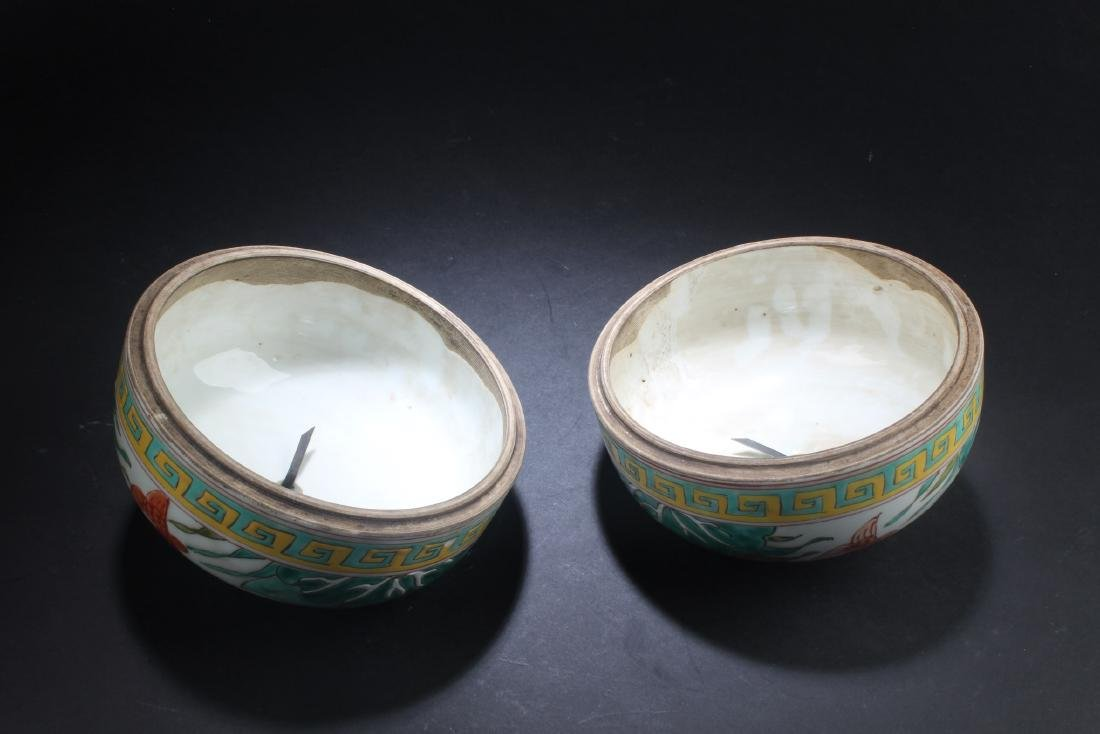 A Pair of Chinese Porcelain Vase with Jar cover - 5
