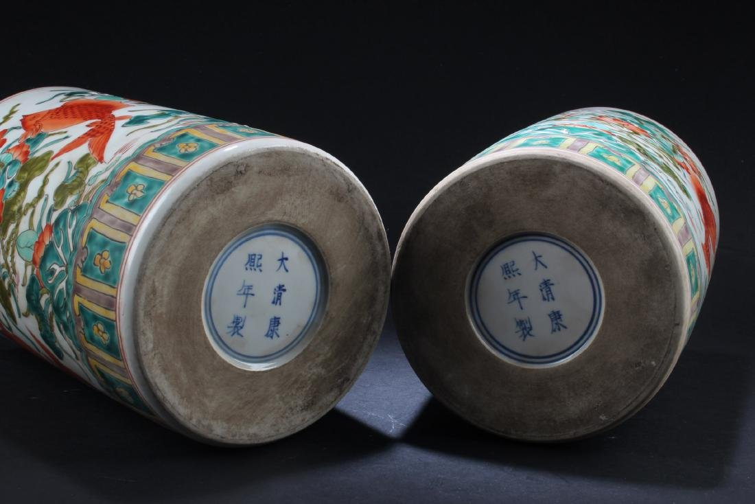 A Pair of Chinese Porcelain Vase with Jar cover - 6