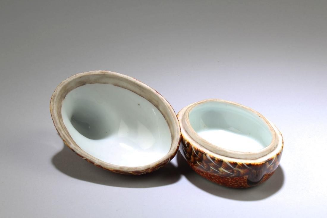 Chinese Fencai Porcelain Box - 4