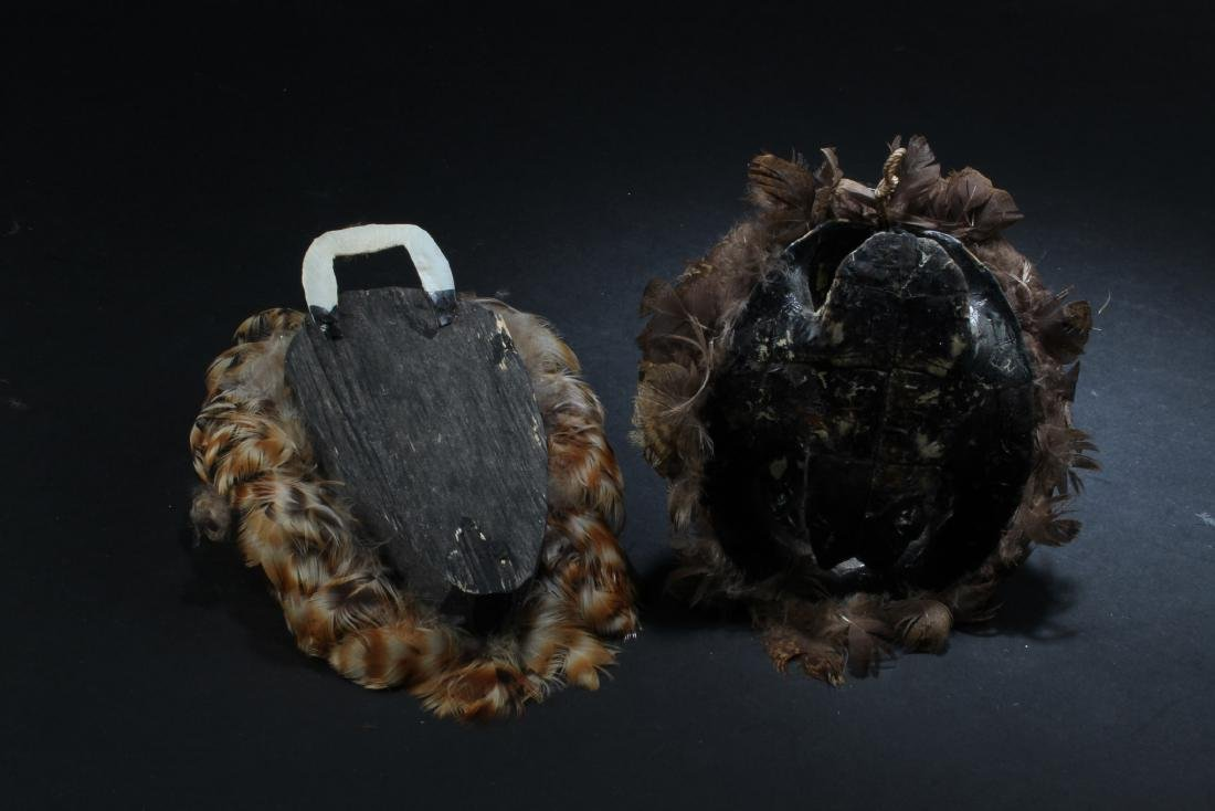 A Wooden Carved & a tortoise shell carved ornament - 4