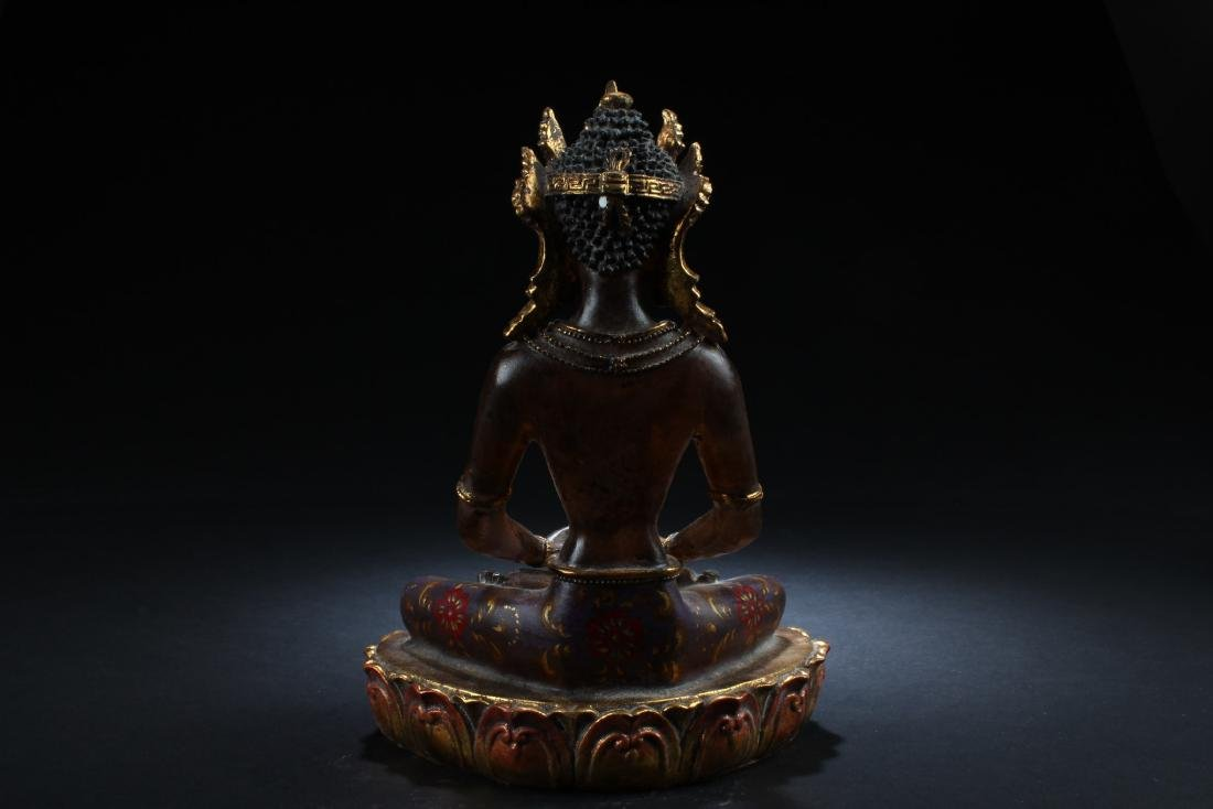 Chiense Peking Glass Bodhisattva Statue - 4