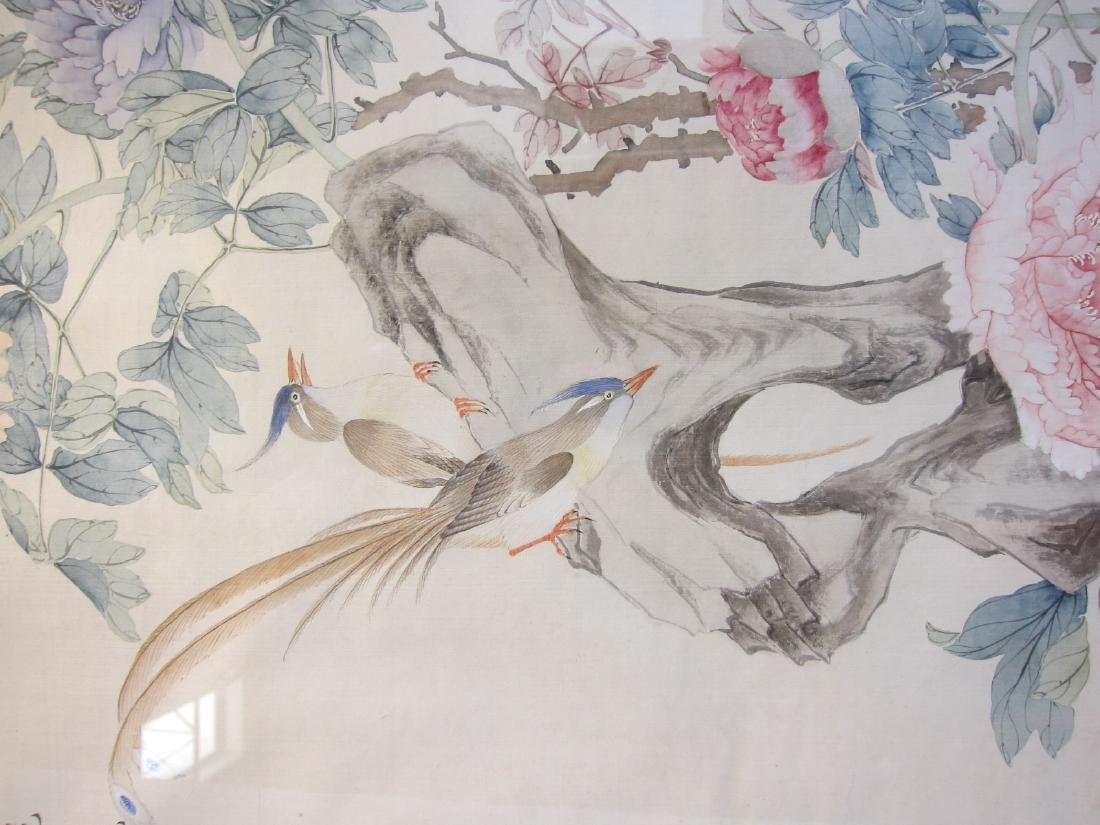Antique Chinese Watercolor Framed Painting - 3