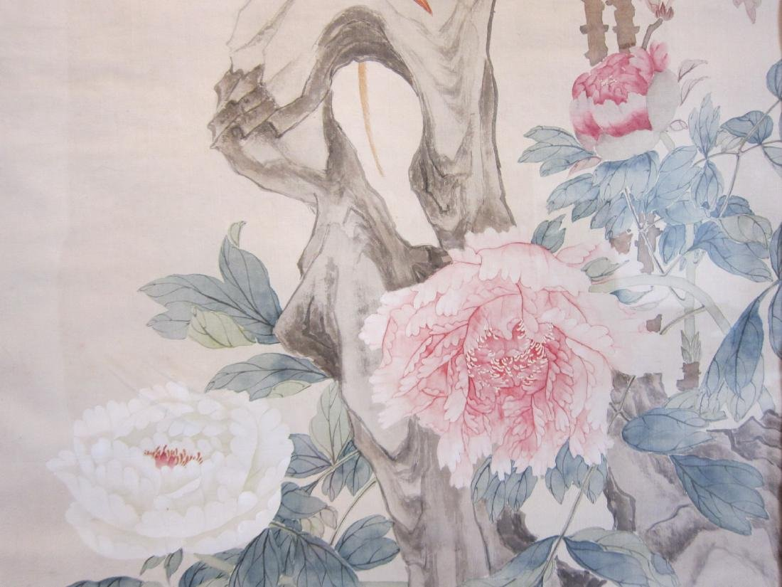 Antique Chinese Watercolor Framed Painting - 4