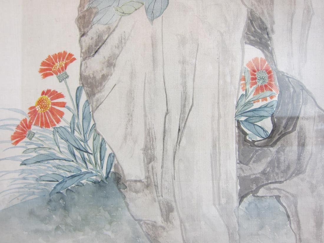 Antique Chinese Watercolor Framed Painting - 6