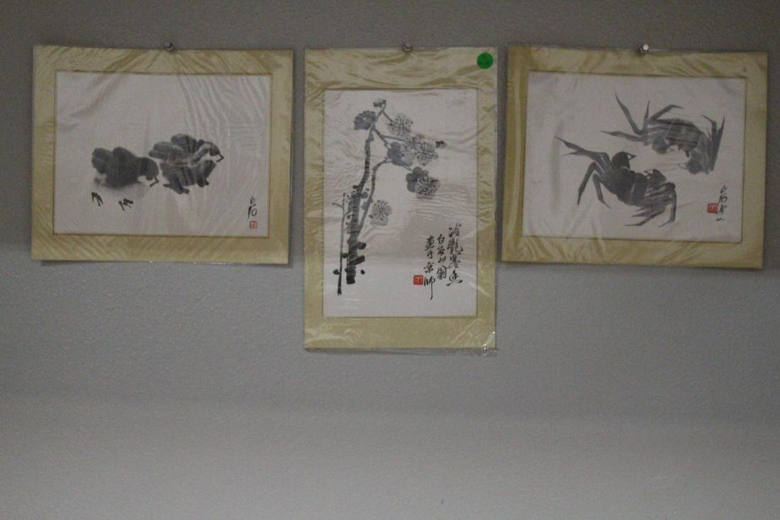 A Group of Three Chinese Painting