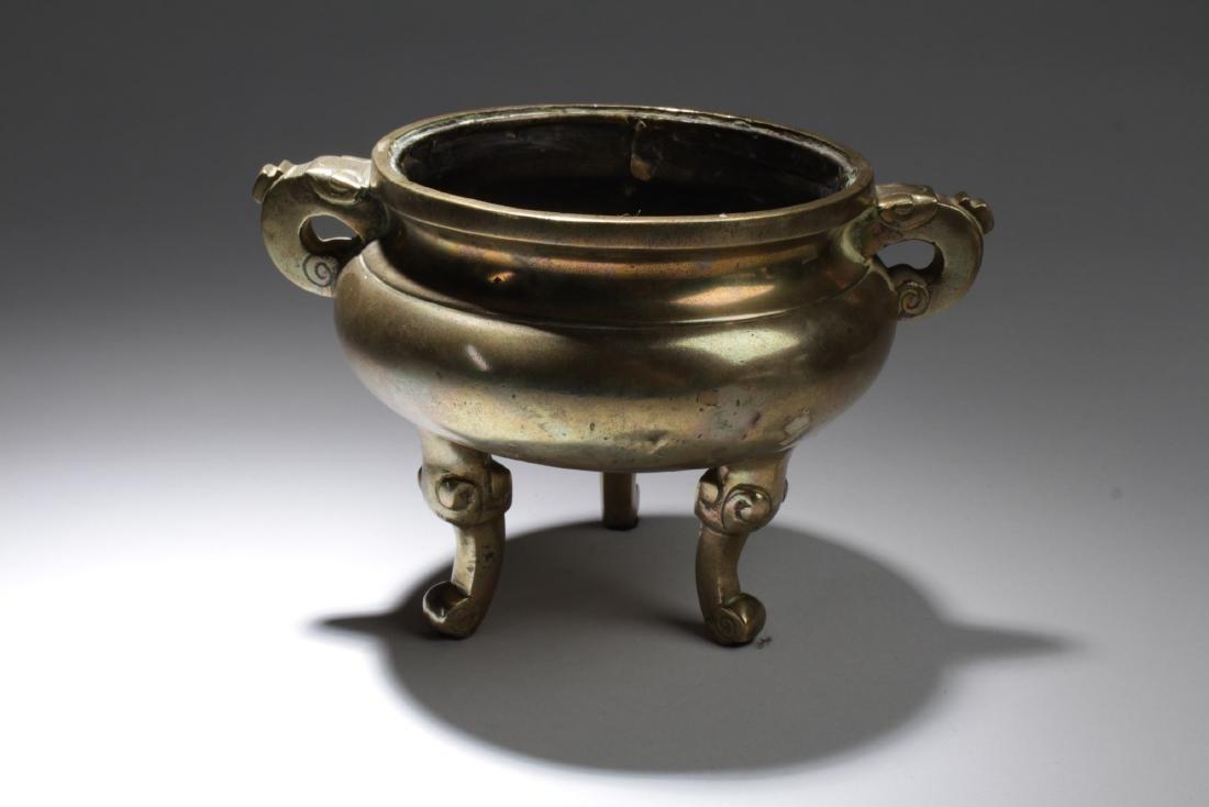 Chinese Gilt Bronze Censer