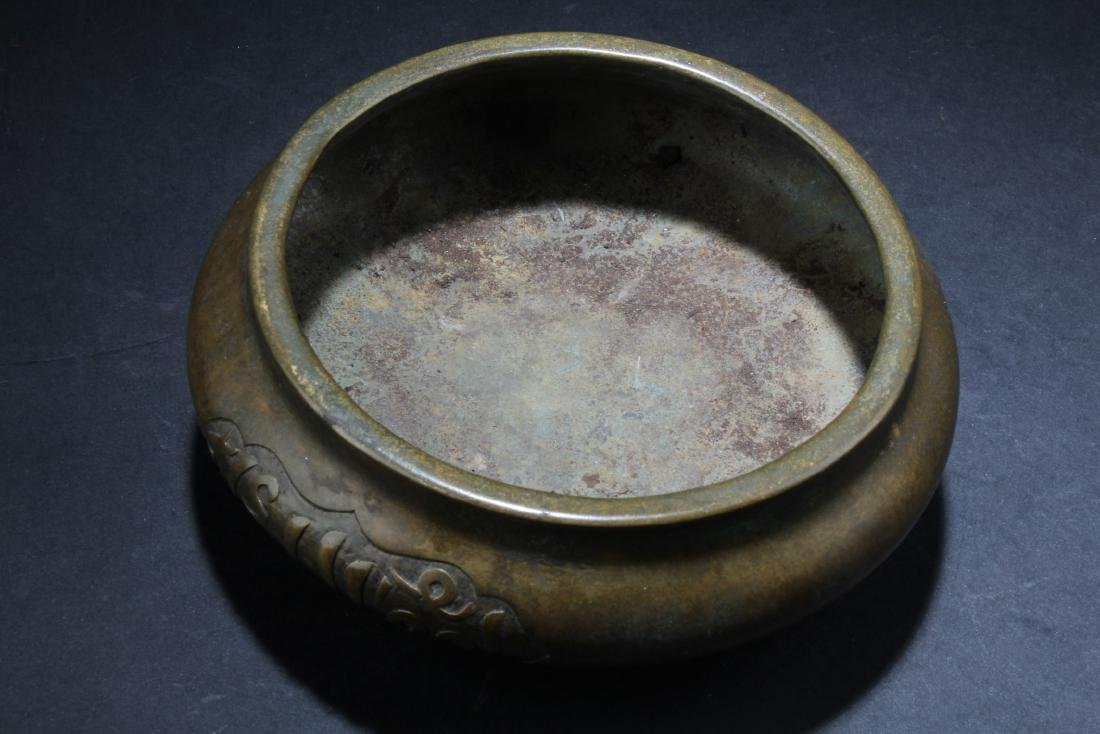 A Chinese Bronze Tripod Censer - 3