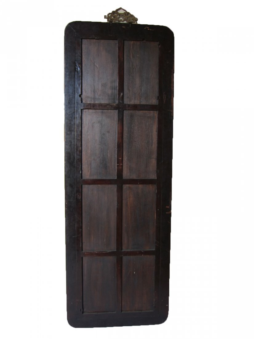 Antique Chinese Hardwood Mirror - 2