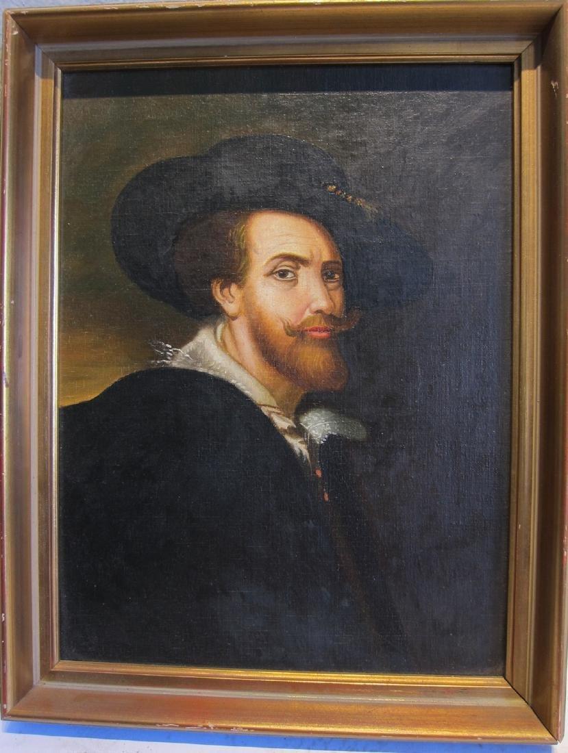 European Oil Portrait Painting