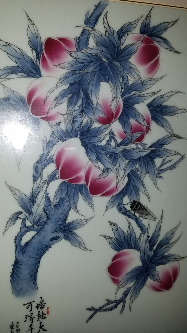Chinese Framed Porcelain Painting - 5