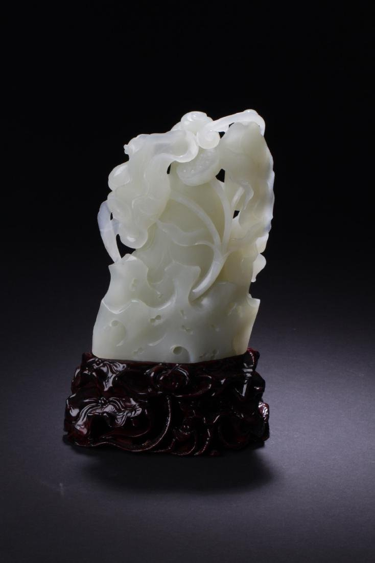 Chinese Jade Carved Guanyin Statue - 6