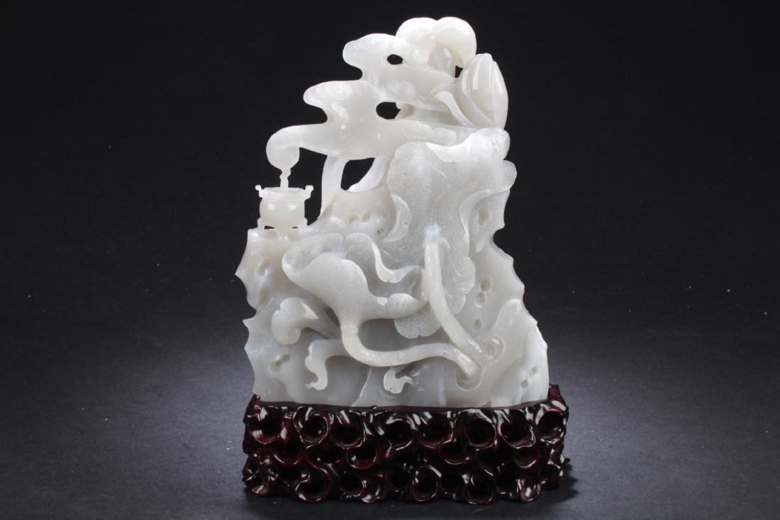 Chinese Jade Carved Guanyin Statue - 4