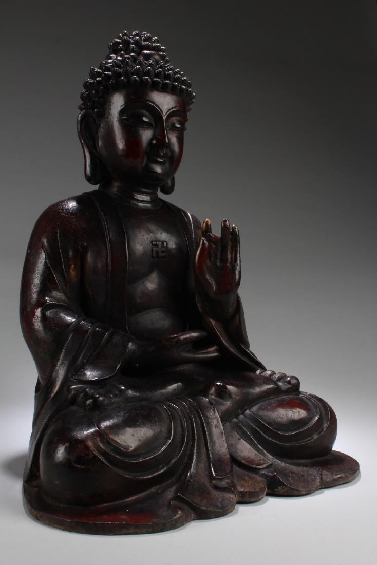Chinese Gilt Bronze Buddha Statue - 2