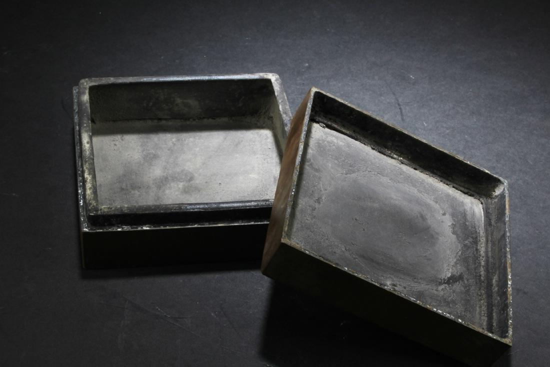 Chinese Bronze Ink Powder Box - 4