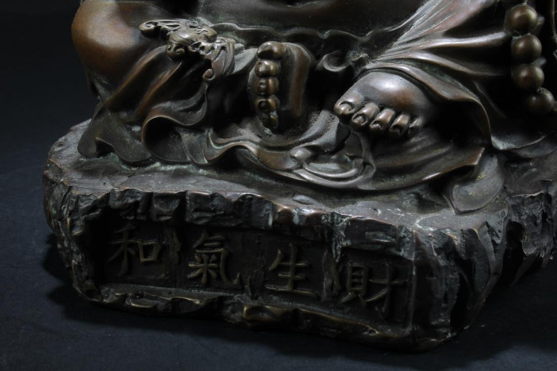 Chinese Bronze Buddha Statue - 3