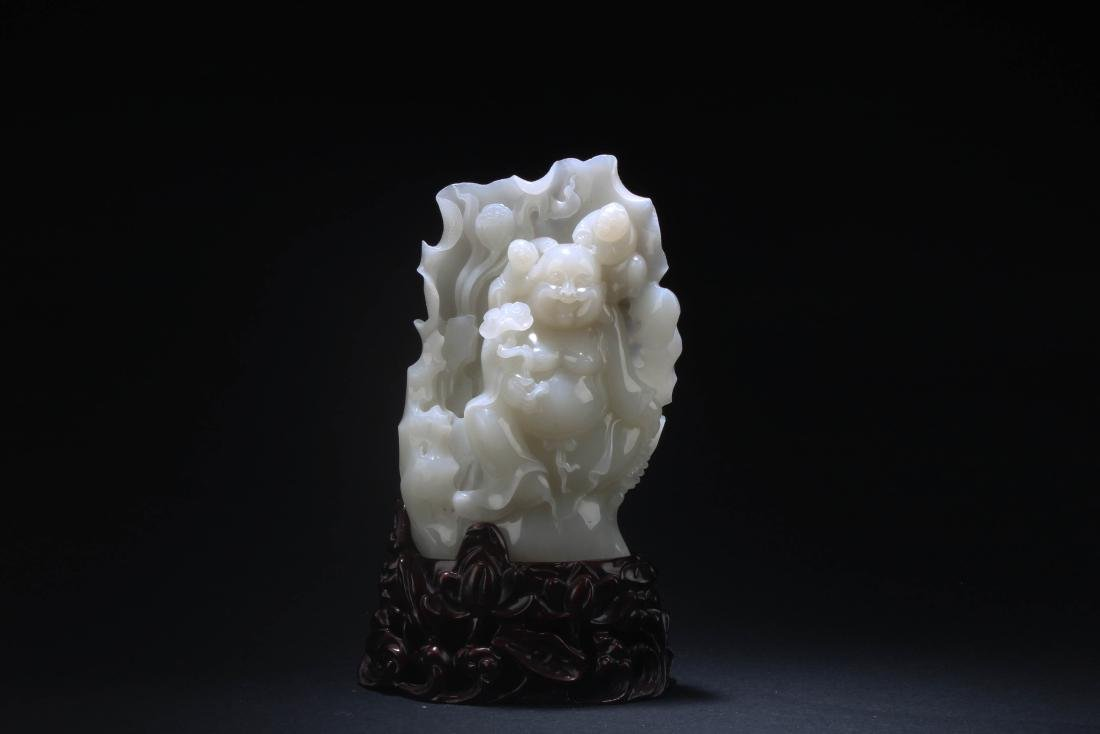 Chinese Jade Carved Statue
