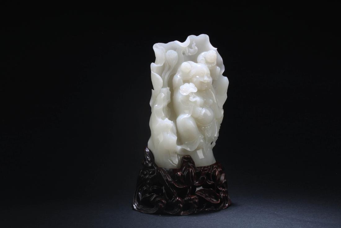 Chinese Jade Carved Statue - 2
