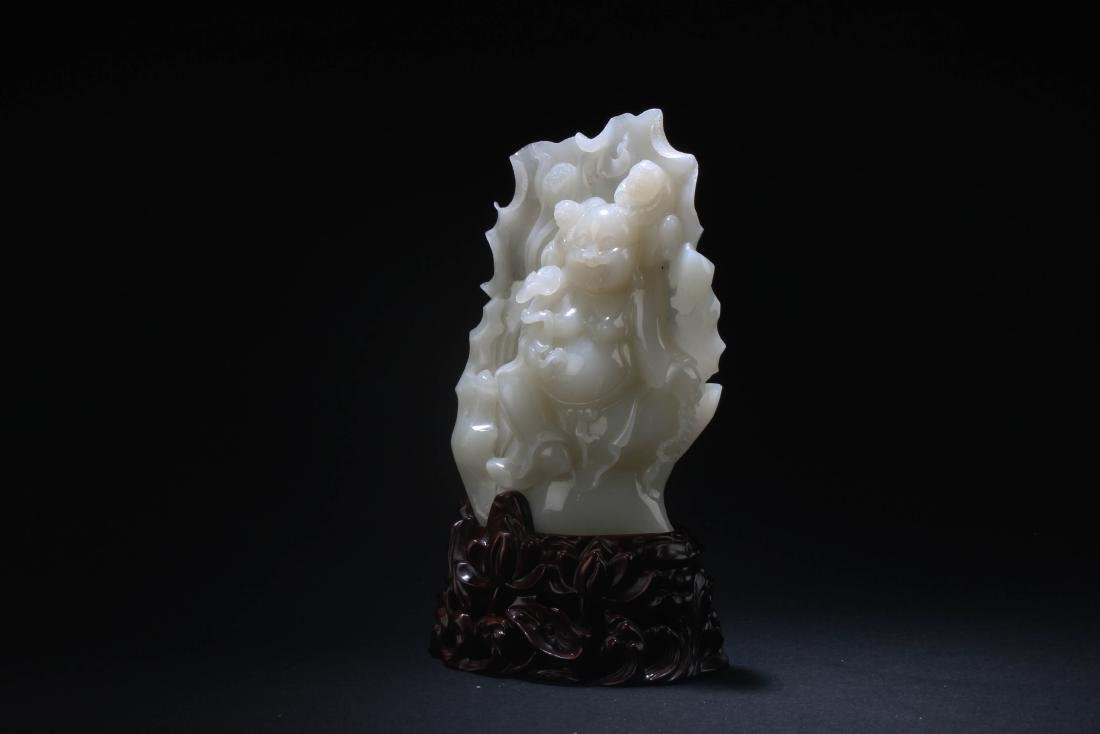 Chinese Jade Carved Statue - 3