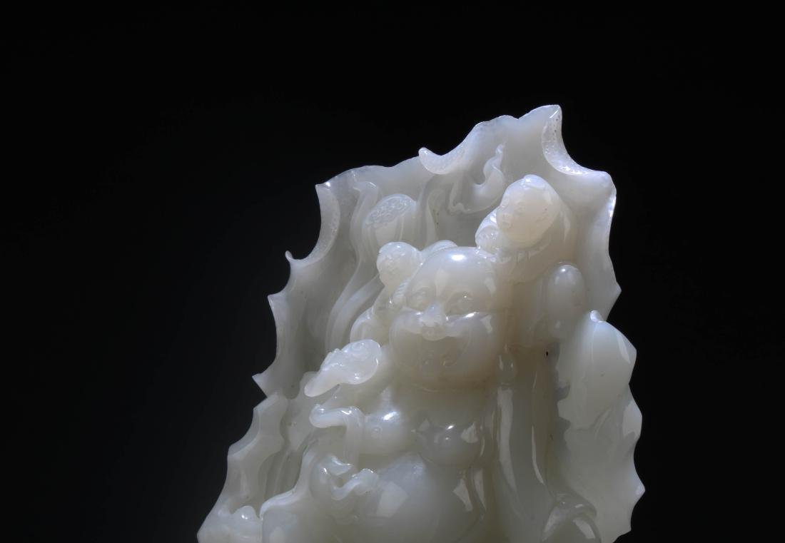 Chinese Jade Carved Statue - 4