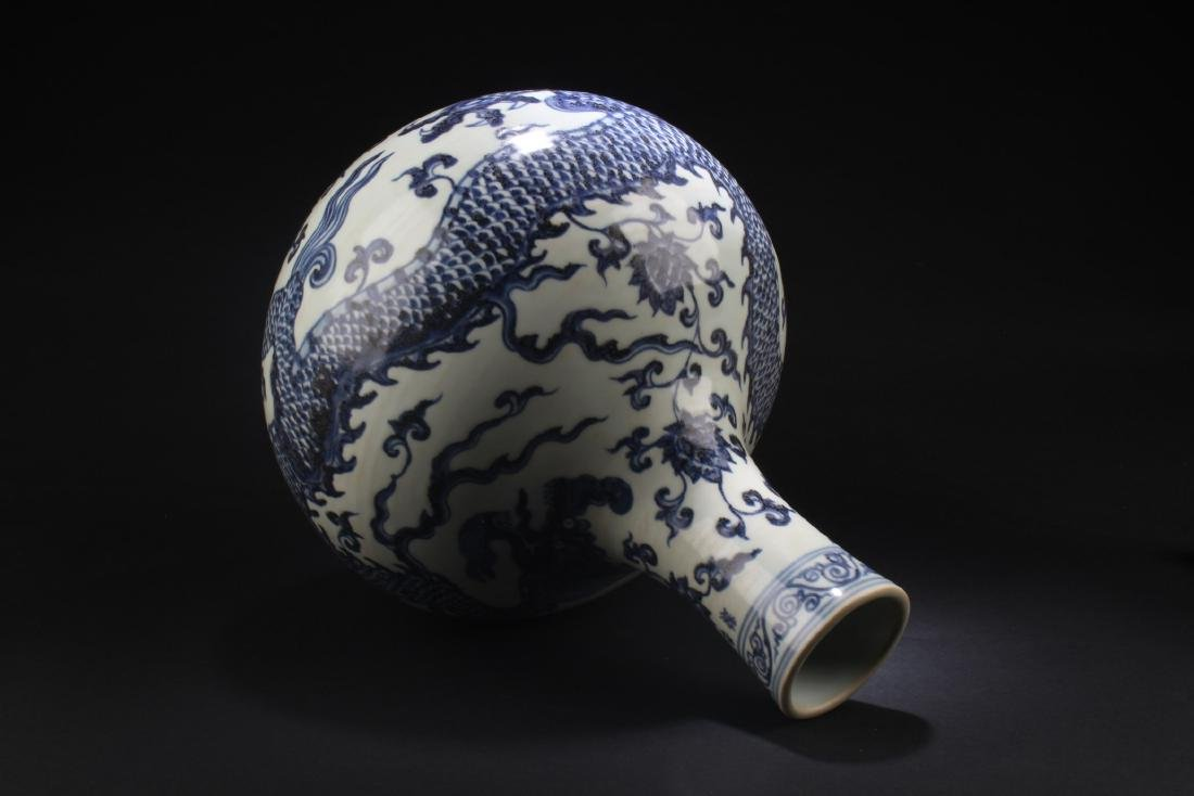 Chinese Blue & White Porcelain Vase - 3
