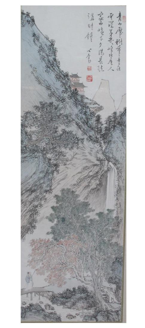 A Chinese Framed Painting