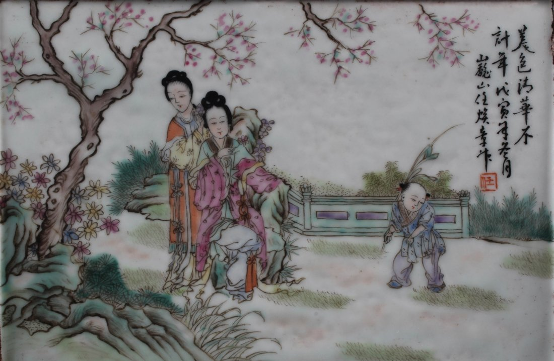 A Pair of Chinese Porcelain Table Screen - 3