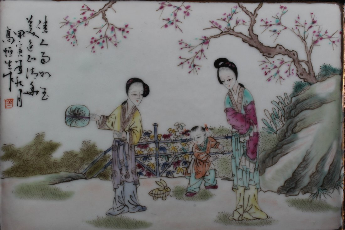 A Pair of Chinese Porcelain Table Screen - 4