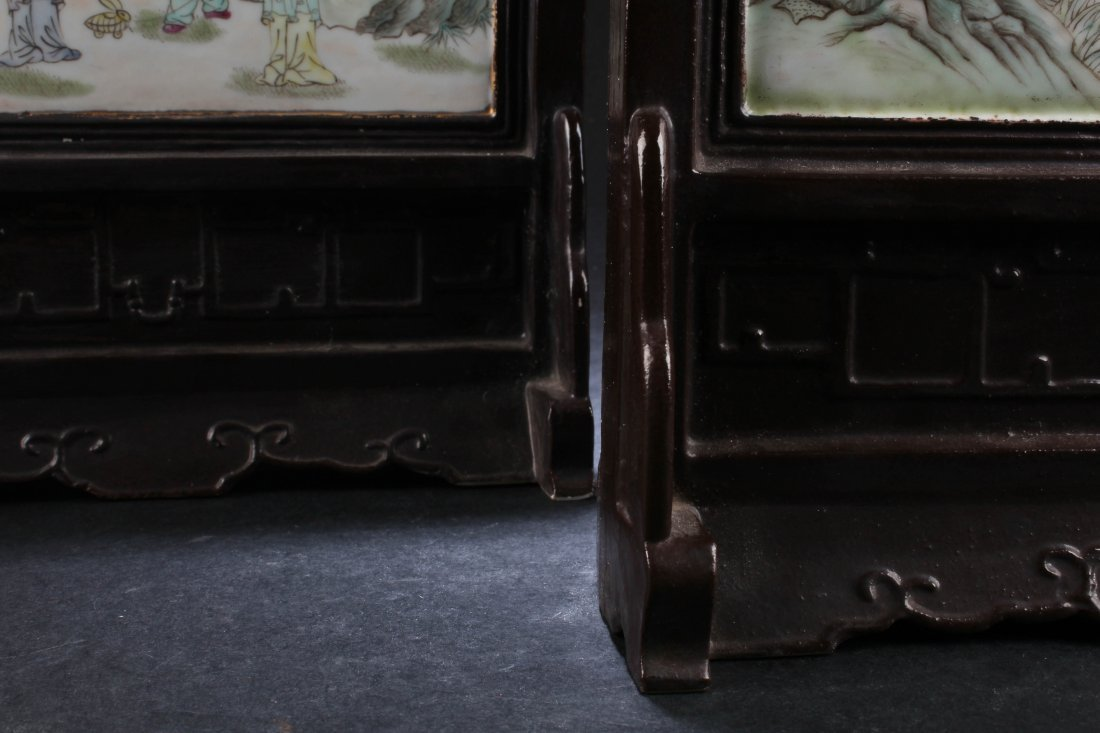 A Pair of Chinese Porcelain Table Screen - 5
