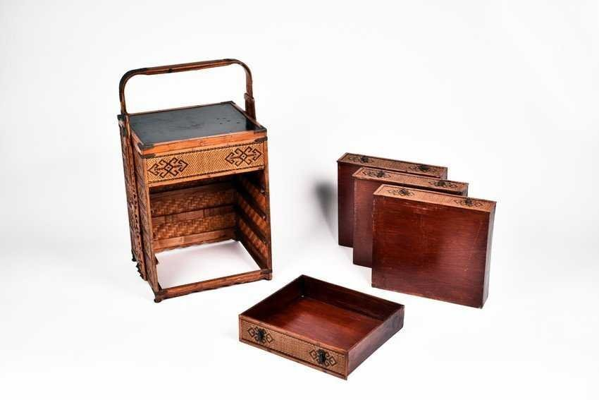 A Four-Tier Bamboo Food Basket - 2